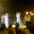 クヒオビーチでのフラショー